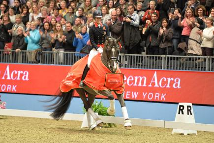 Charlotte Dujardin claimed a third world record at Olympia (Photo: FEI/Kit Houghton)