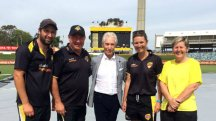 Charlotte Edwards recently met the Rolling Stones while Down Under. (Image: @waca_cricket)