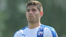 Chesterfield's Ched Evans during the pre-season friendly match at New Manor Ground, Ilkeston.