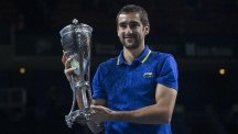 Marin Cilic, pictured, took just 84 minutes to beat Roberto Bautista Agut (AP)