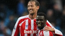 Mame Biram Diouf, right, saw Stoke to victory