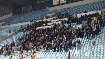 Manchester City were disappointed that home spectators attended the match
