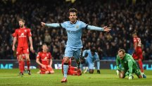 David Silva opened the scoring as Manchester City beat Leicester