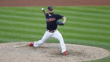 Corey Kluber tossed seven scoreless innings for the Indians against the Red Sox (AP)