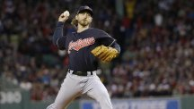 Josh Tomlin pitched five shutout innings for Cleveland (AP)