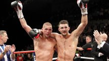 Nathan Cleverly, pictured right, will face Tony Bellew, left, in a rematch in Liverpool on November 22