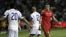 Gareth Bale, right, scored twice in Wales' 3-0 victory against Israel in Haifa