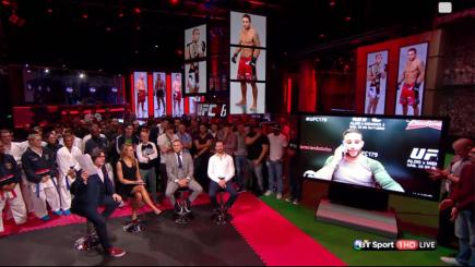 Conor McGregor on BT Sport set with Chad Mendes