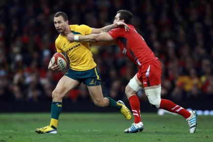Quade Cooper celebrated his 50th cap for Australia with a brilliant display