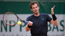 Andy Murray, pictured, plays Portugal's Joao Sousa in the second round of the French Open