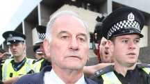 Former Rangers chief executive Charles Green leaves Glasgow Sheriff Court on Wednesday
