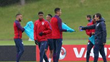 England trained ahead of their friendly with Australia