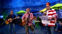 Danny Baker joins Squeeze in a World Cup-themed rendition of 'Cool For Cats'