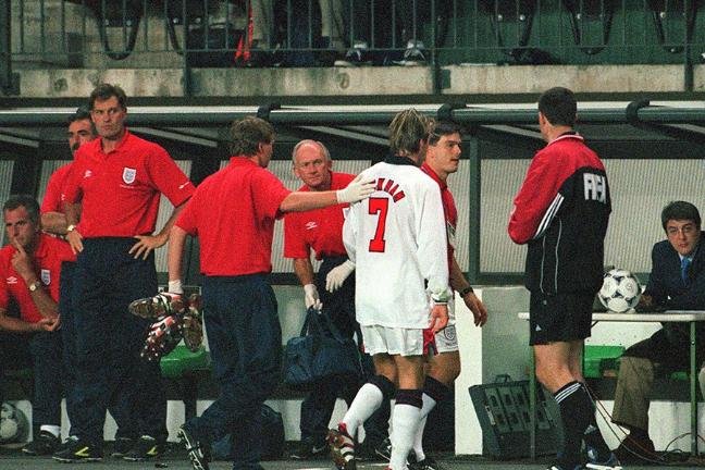 Image result for glenn hoddle 1998 looking at watch