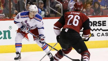 Chris Kreider, left, led the New York Rangers' offence (AP)
