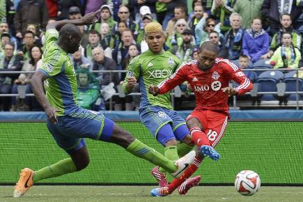 Jermain Defoe scored twice on his Toronto debut (AP)