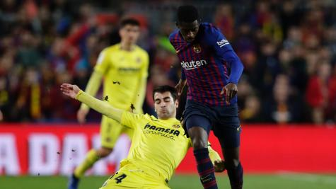 Barcelona 2-0 Villarreal: Gerard Pique and Carles Alena send champions top