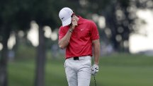 Rory McIlroy carded a 74 in New Jersey (AP)