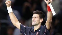 World number one Novak Djokovic, pictured, defeated Andy Murray on Friday