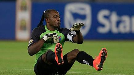"DR Congo goalkeeper Robert Kidiaba produces famous ""bum-bum"" celebration"