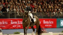 Charlotte Dujardin and Valegro in action during the London International Horse Show on Tuesday night