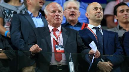 Greg Dyke, left, believes video replays should be brought in