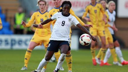 Eniola Aluko was England's stand-out performer in the World Cup qualifier against Ukraine