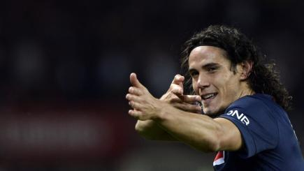 Edinson Cavani and PSG are in action on BT Sport Extra