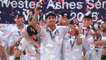 England lift the Ashes