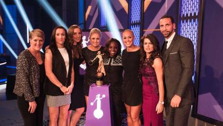 England Lionesses win 2015 BT Sport Action Woman of the Year Award