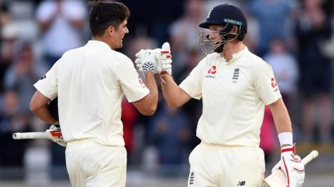 Cook and Root prosper under lights in first day-night Test