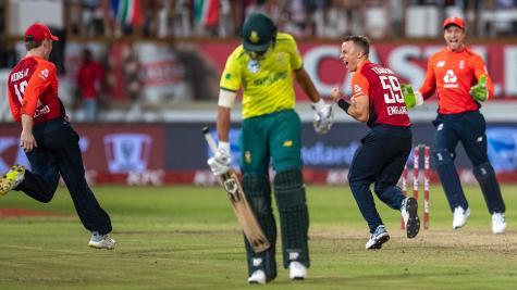 Eoin Morgan hails Tom Curran's death bowling after England level T20 series