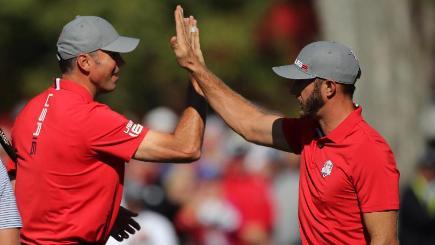 Europe cut gap, but US near Ryder Cup win