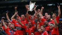 Toulon celebrate with the Champions Cup
