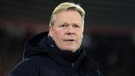 Everton boss Ronald Koeman refuses to discuss Barcelona job