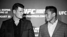 Face to face: Michael Bisping and Cung Le face off