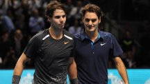 Roger Federer, right, will replace Rafael Nadal, left, in the inaugural International Premier Tennis League