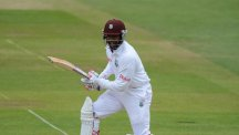 Chris Jordan was involved in both of the first two West Indies wickets to fall