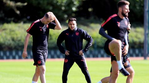 First-team regulars sit out Arsenal training ahead of Europa League match