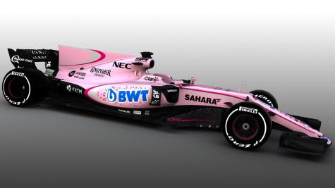 Force India unveil striking new pink livery for 2017 Formula One season