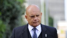 Ray Wilkins arriving at Uxbridge Magistrates' Court in London, where he was given a four-year ban for drink-driving