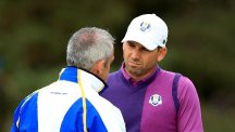 Sergio Garcia, right, praised the captaincy of Paul McGinley, left