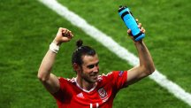 Wales and Real Madrid star celebrates with water bottle