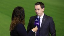 Gary Neville thanked Valencia's fans for their support after a long-awaited first league win