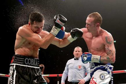 George Groves on the attack against Carl Froch (Getty Images)