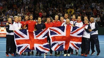 Great Britain enjoyed victory over USA in the Davis Cup