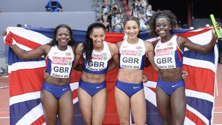 Great Britain's 4x100m relay women's team broke the British record twice in 11 days