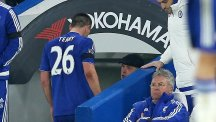 John Terry, left, sustained an injury during Chelsea's big win over Newcastle