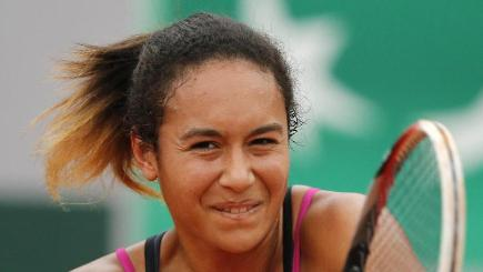 Heather Watson lost in the second round of the French Open to fourth seed Simona Halep (AP)