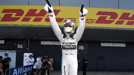Lewis Hamilton, pictured, posted a time of one minute 32.248 seconds to beat Nico Rosberg to top spot by just 0.113sec